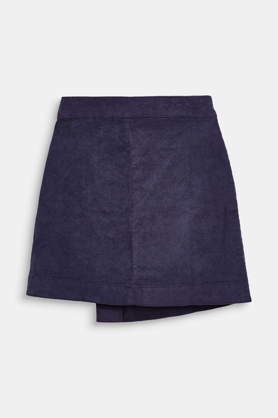 Fine corduroy skirt in a wrap-over look, LCMIDNIGHT BLUE, detail image number 1
