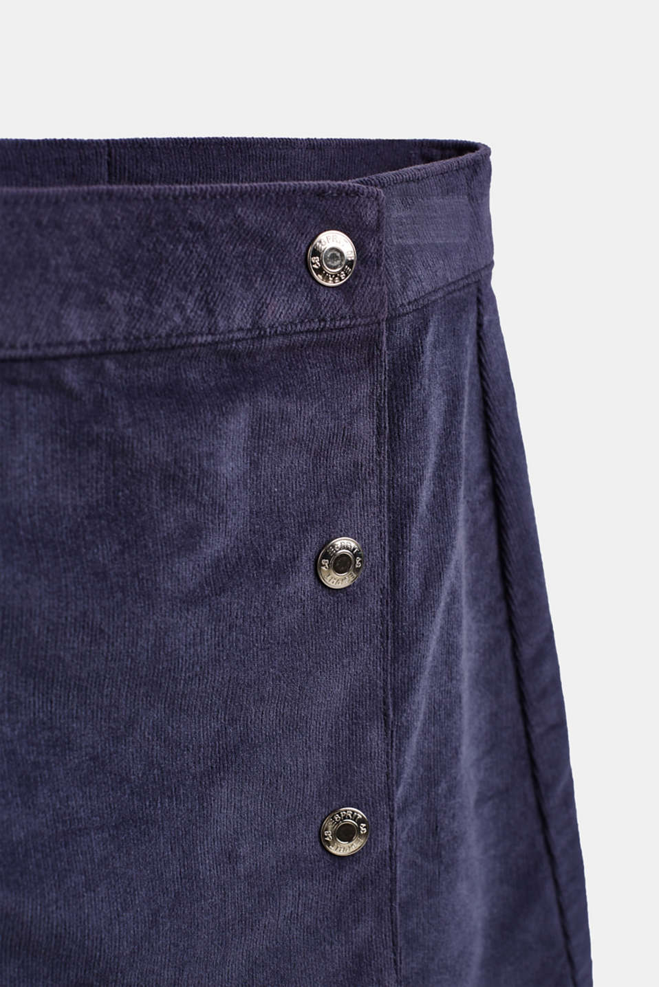 Fine corduroy skirt in a wrap-over look, LCMIDNIGHT BLUE, detail image number 2