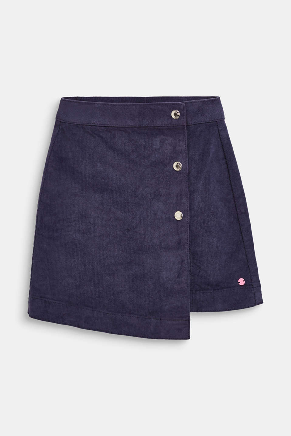 Fine corduroy skirt in a wrap-over look, LCMIDNIGHT BLUE, detail image number 0
