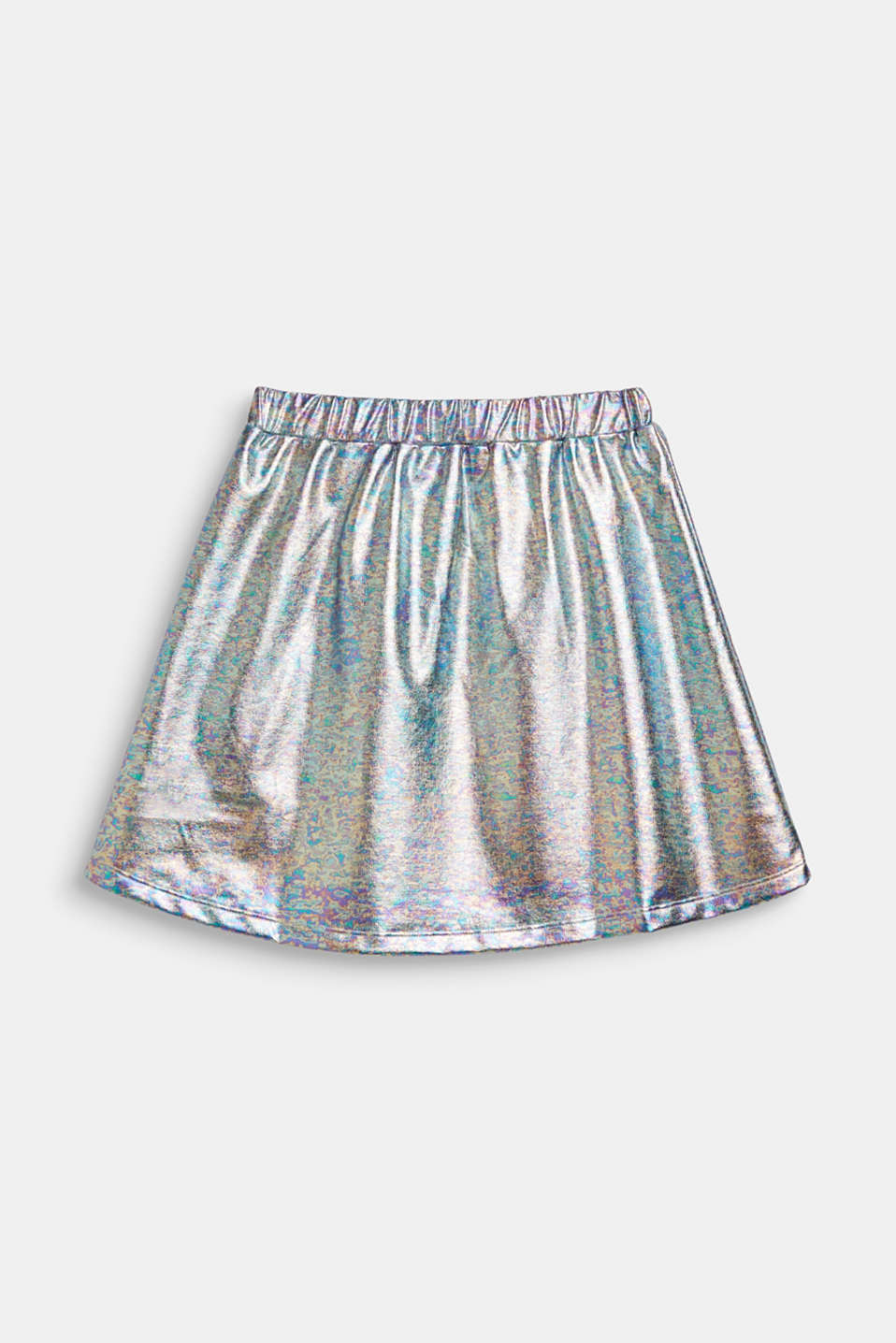 Skirt in an iridescent metallic finish, LCSILVER, detail image number 1