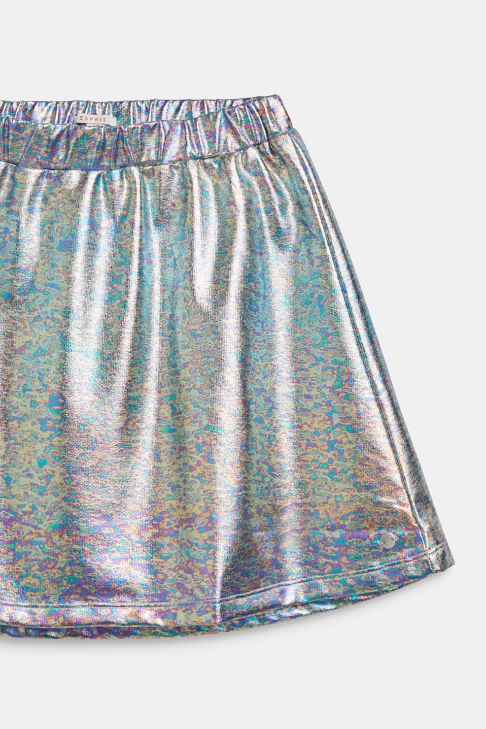 Skirt in an iridescent metallic finish, LCSILVER, detail image number 2