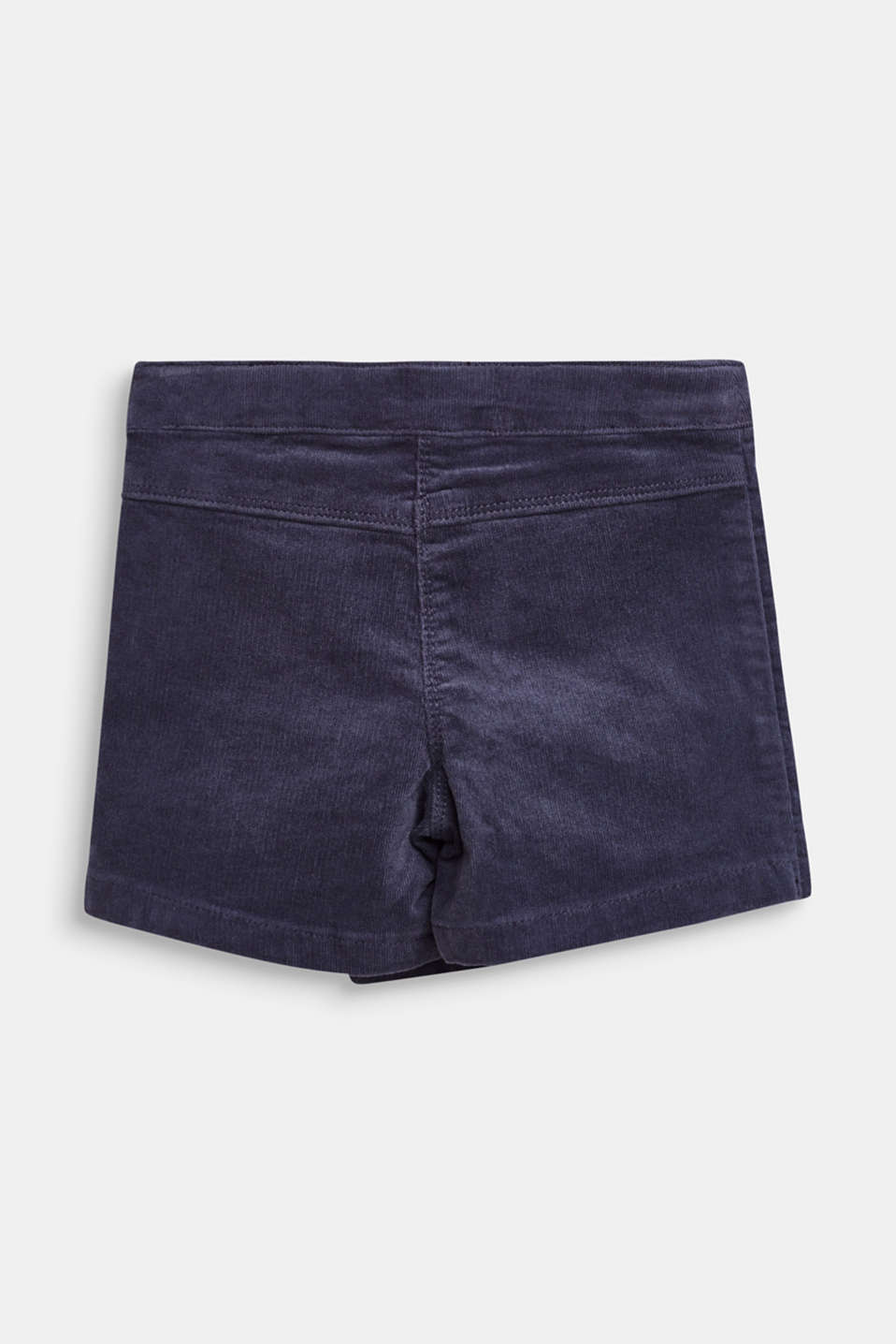 Corduroy shorts with a wrap-over effect, MIDNIGHT BLUE, detail image number 2