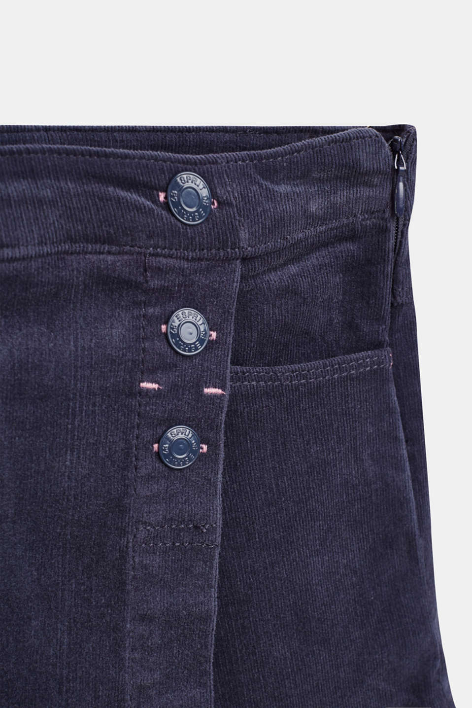 Corduroy shorts with a wrap-over effect, MIDNIGHT BLUE, detail image number 1
