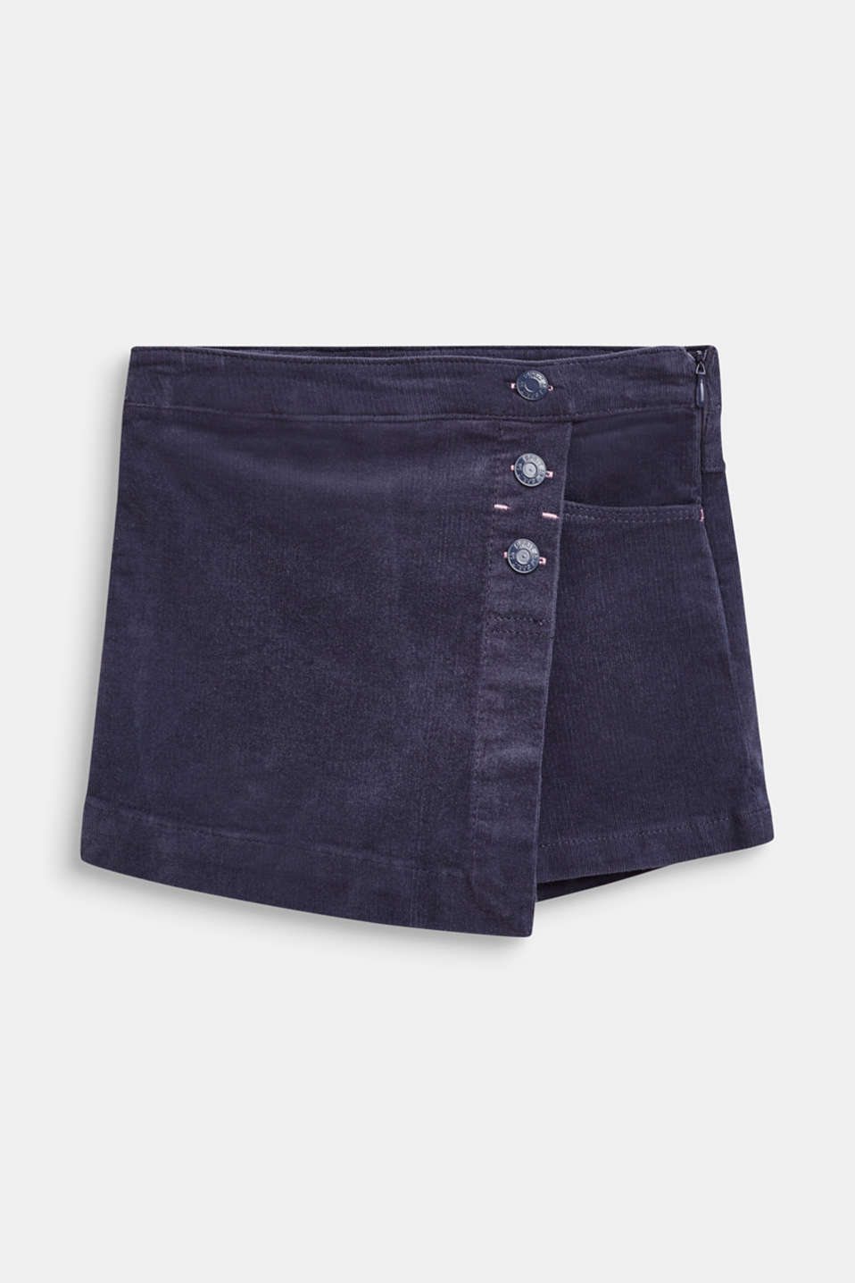 Esprit - Cord-Shorts mit Wickel-Optik