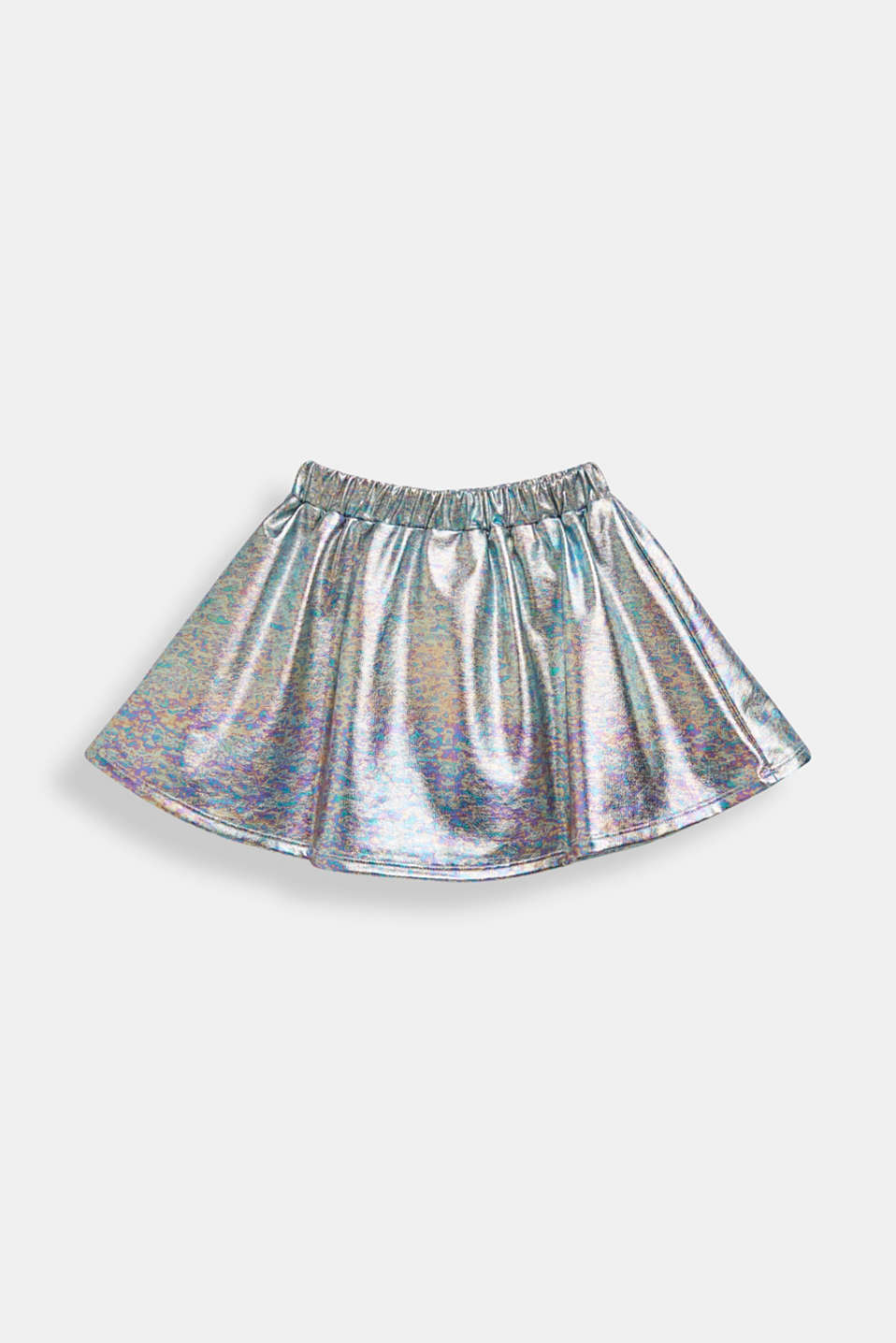 Skirt in an iridescent metallic finish, SILVER, detail image number 1