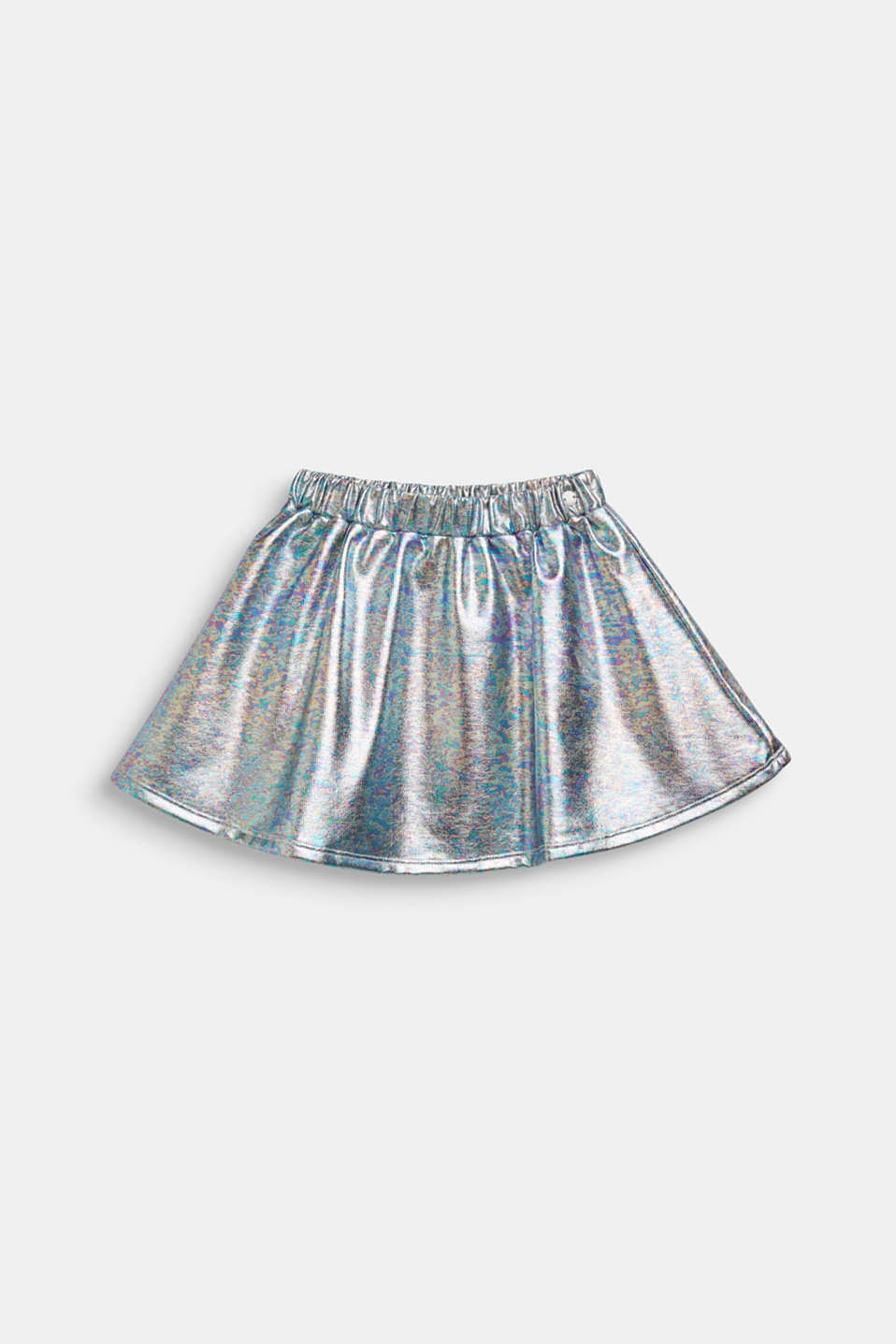Skirt in an iridescent metallic finish, SILVER, detail image number 0