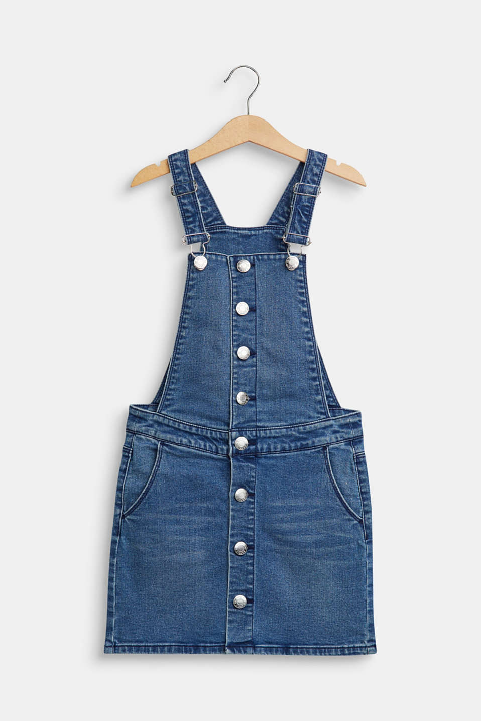 Esprit - Stretch denim dungaree skirt
