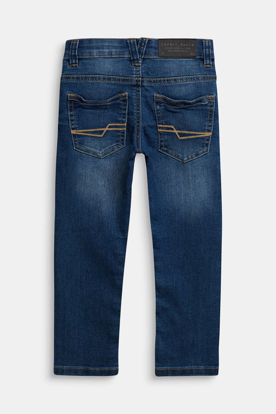Stretch jeans with an adjustable waist, MEDIUM WASH DE, detail image number 1