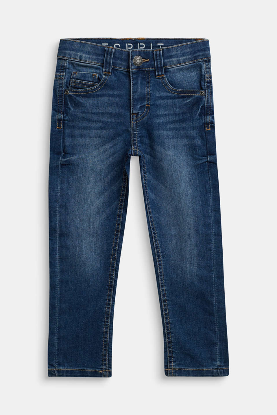 Stretch jeans with an adjustable waist, MEDIUM WASH DE, detail image number 0