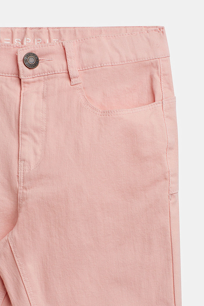 Coloured stretch jeans, TINTED ROSE, detail image number 2