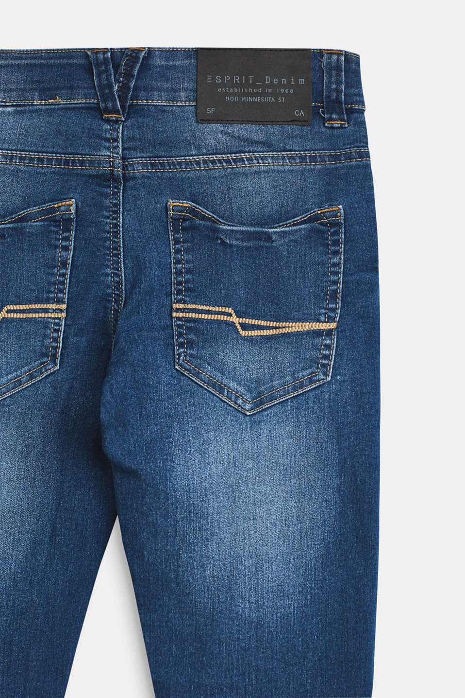 Stretch jeans with an adjustable waist, LCMEDIUM WASH DE, detail image number 2