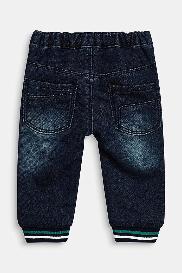 Jogger-Jeans mit Streifen-Bündchen, LCDARK INDIGO DE, detail image number 1