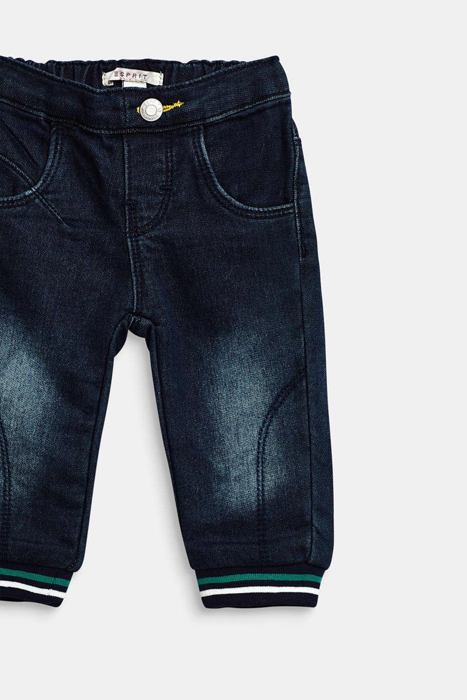 Tracksuit jeans with striped trims, LCDARK INDIGO DE, detail image number 2