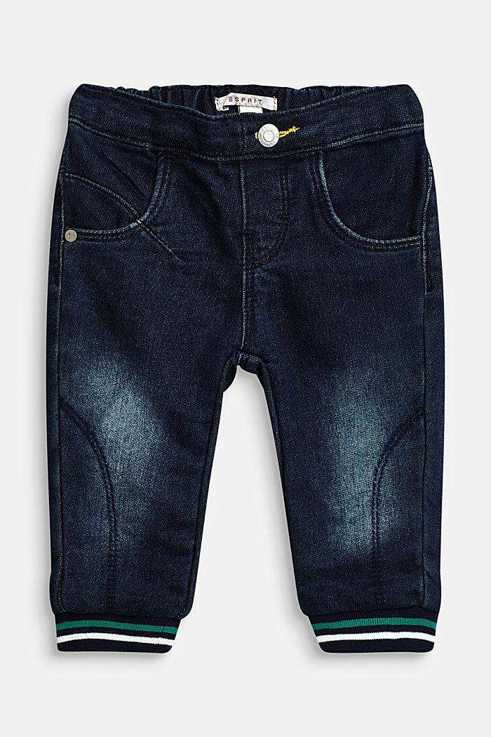 Jogger-Jeans mit Streifen-Bündchen, LCDARK INDIGO DE, detail image number 0