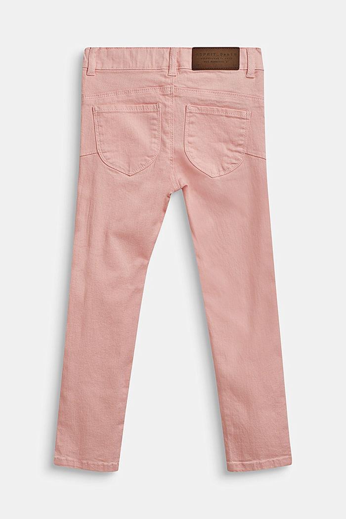 Stretch-jeans m. regulerbar livvidde, TINTED ROSE, detail image number 1