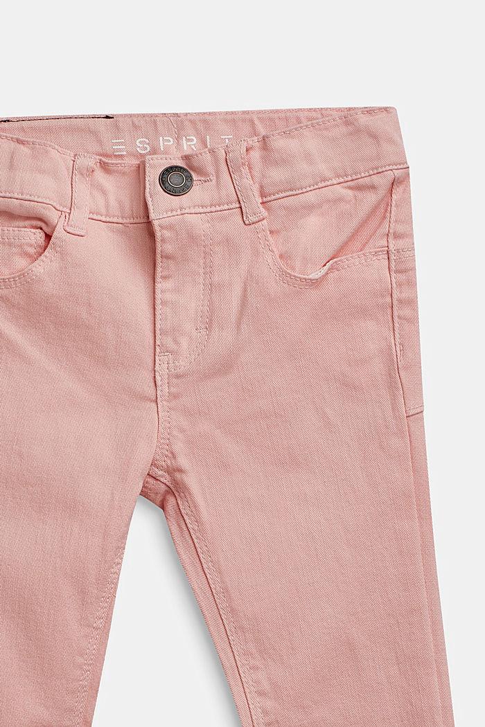 Stretch-jeans m. regulerbar livvidde, TINTED ROSE, detail image number 2