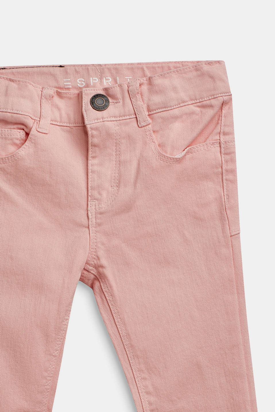 Stretch jeans with an adjustable waist, TINTED ROSE, detail image number 2