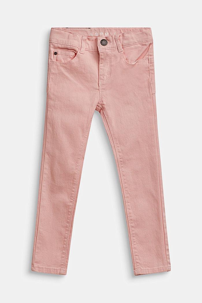 Stretch-jeans m. regulerbar livvidde, TINTED ROSE, detail image number 0