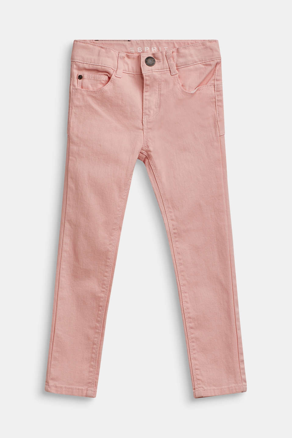 Stretch jeans with an adjustable waist, TINTED ROSE, detail image number 0