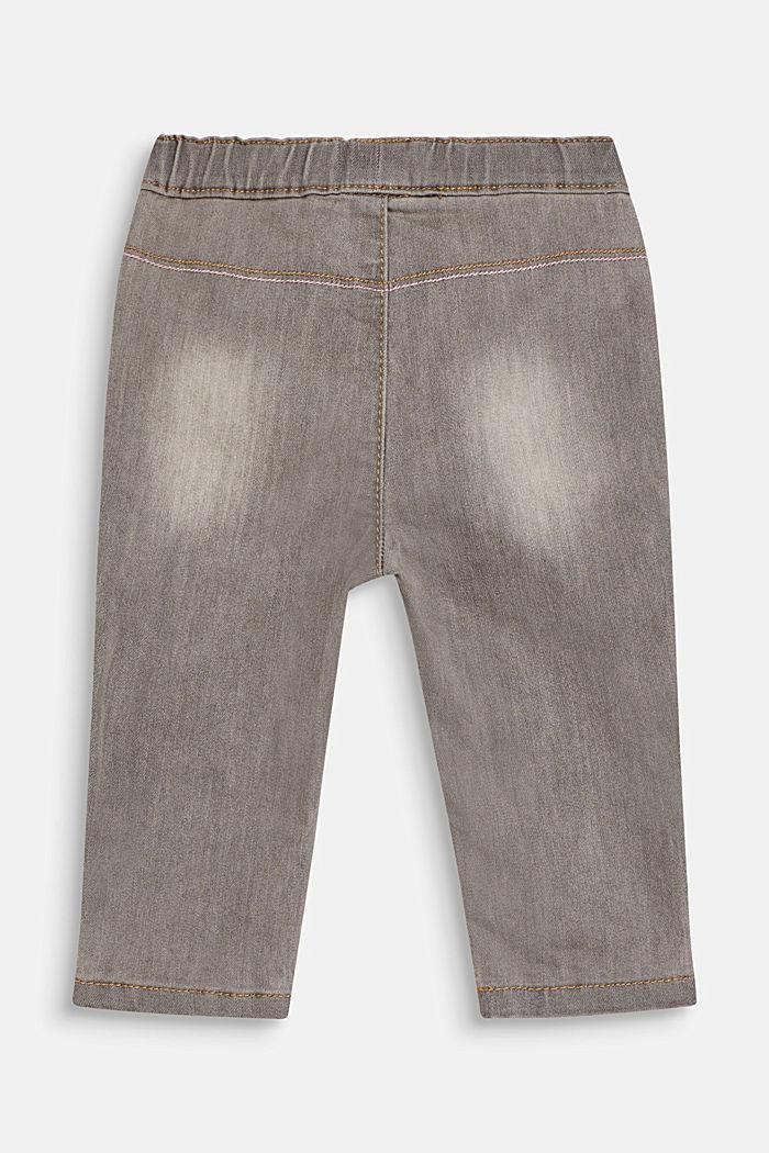 Stretch-Jeans mit Gummibund, LIGHT GREY DENIM, detail image number 1