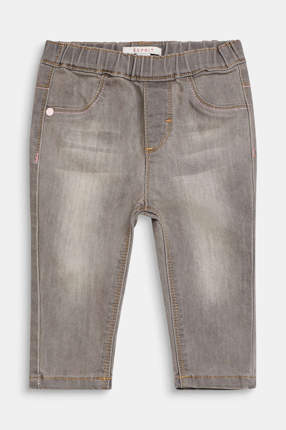 Esprit - Stretch jeans with elasticated waistband
