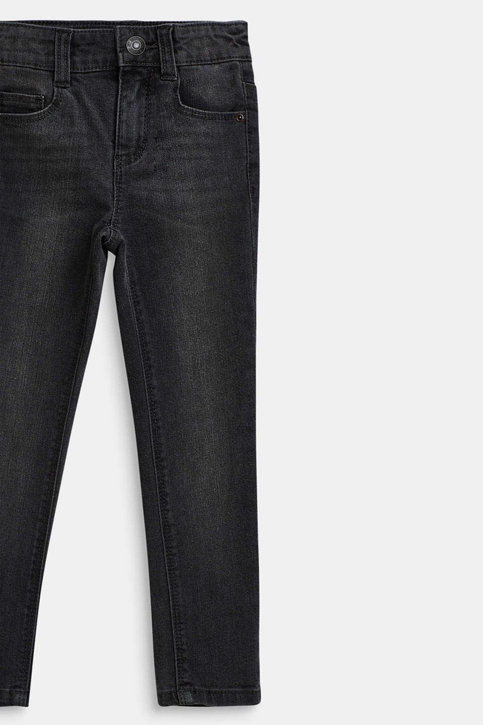Stretch jeans with an adjustable waist, LIGHT GREY DEN, detail image number 2