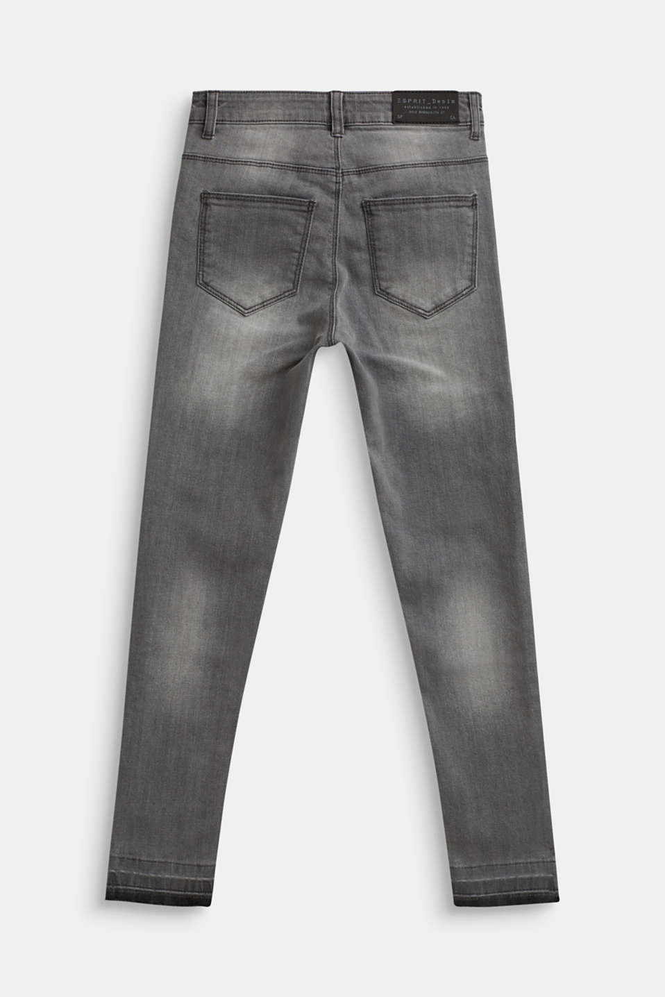 Ankle-length stretch jeans, LCLIGHT GREY DEN, detail image number 1
