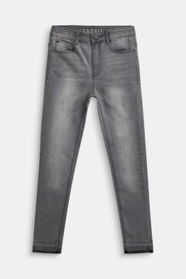 Ankle-length stretch jeans, LCLIGHT GREY DEN, detail