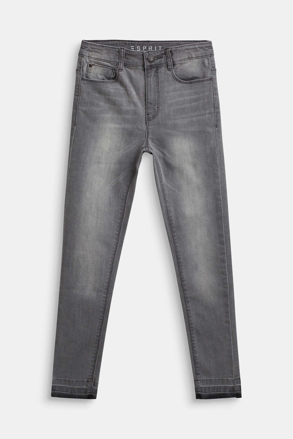 Ankle-length stretch jeans, LCLIGHT GREY DEN, detail image number 0