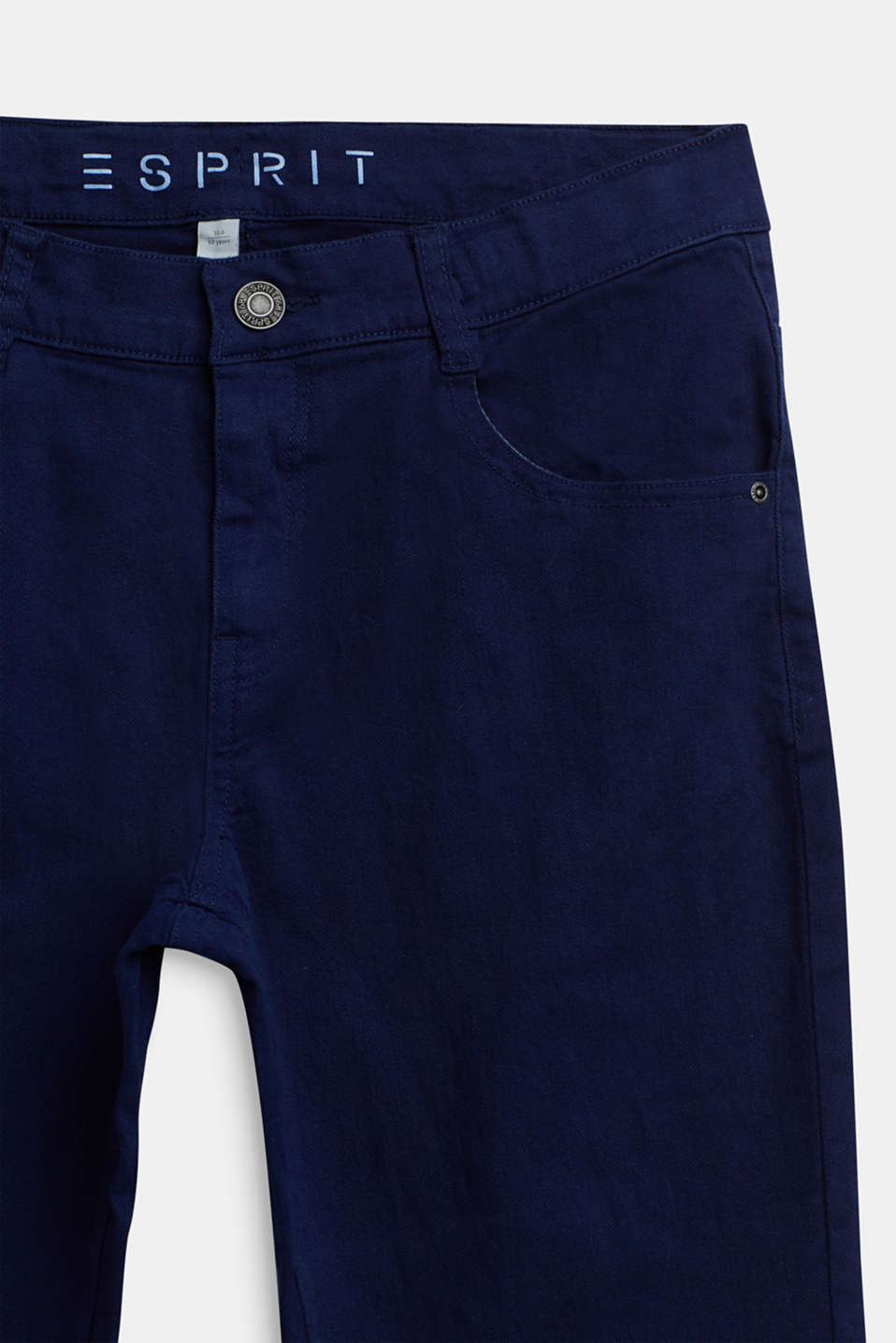 Coloured stretch jeans, adjustable waistband, LCMARINE BLUE, detail image number 2