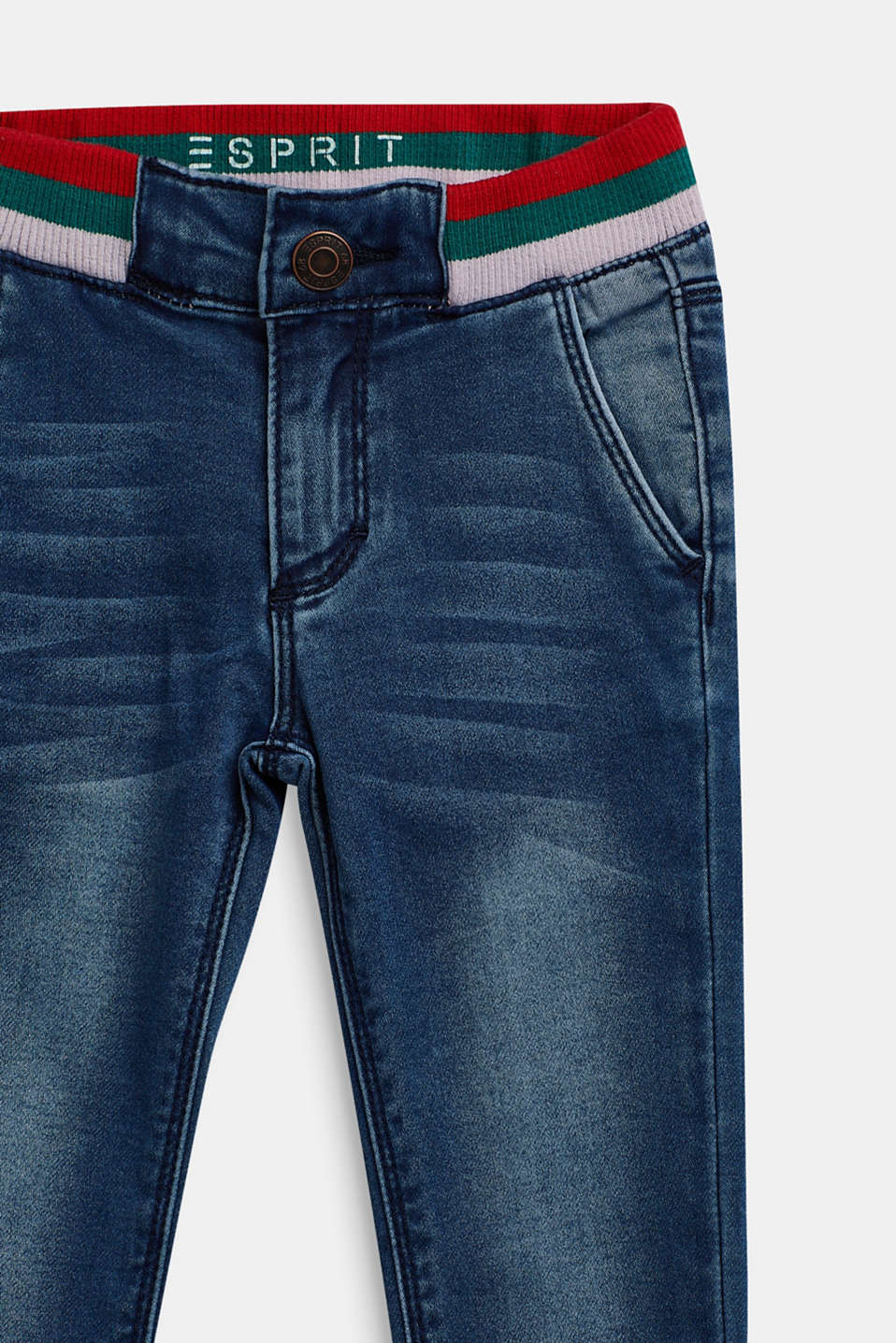 Stretch jeans with elasticated waistband, MEDIUM WASH DE, detail image number 2