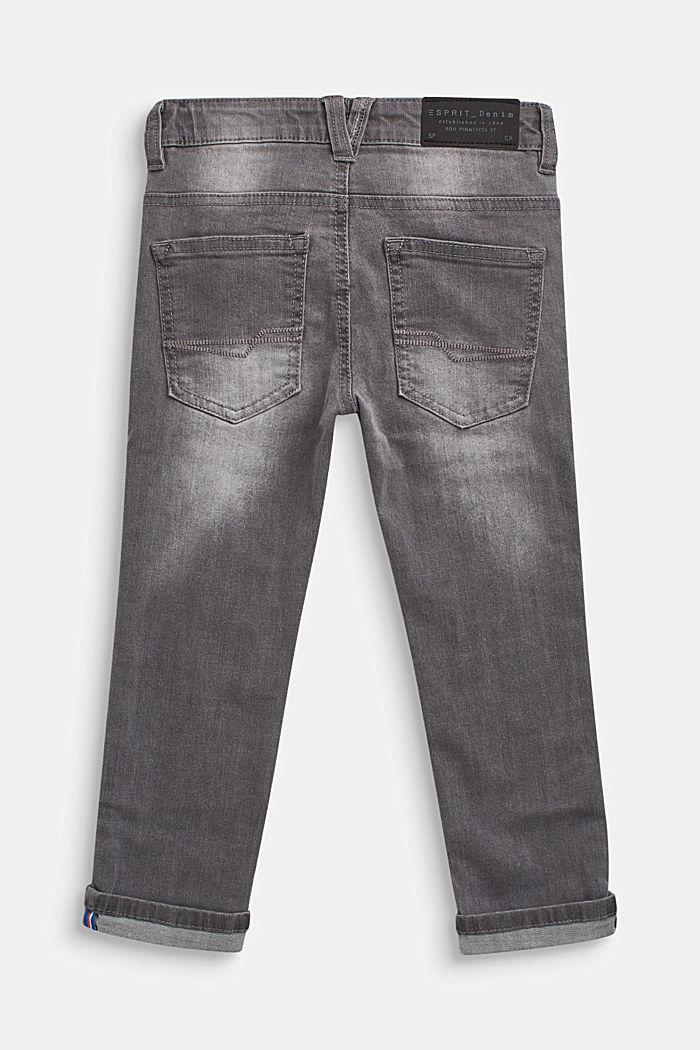 Stretch-Jeans mit Webband-Details, GREY DENIM, detail image number 1
