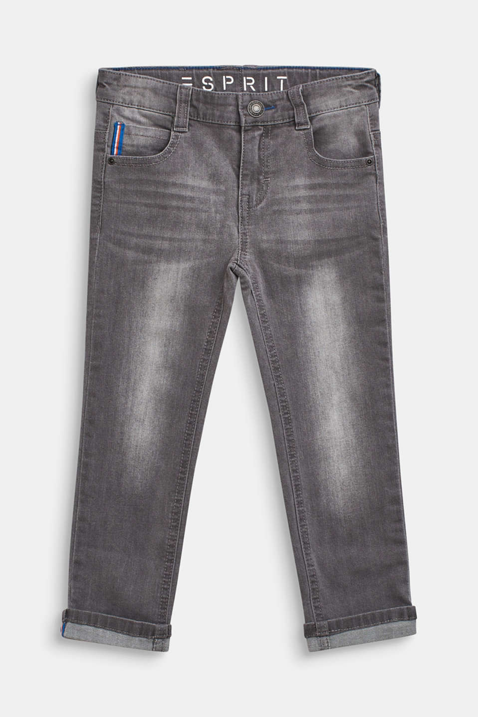 Esprit - Stretch jeans with woven tape details
