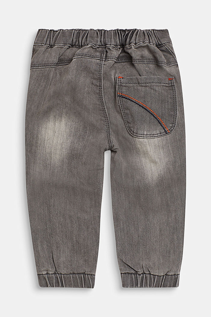 Stretch jeans with decorative seams, LCLIGHT GREY DEN, detail image number 1