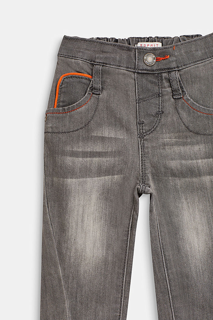Stretch jeans with decorative seams, LCLIGHT GREY DEN, detail image number 2