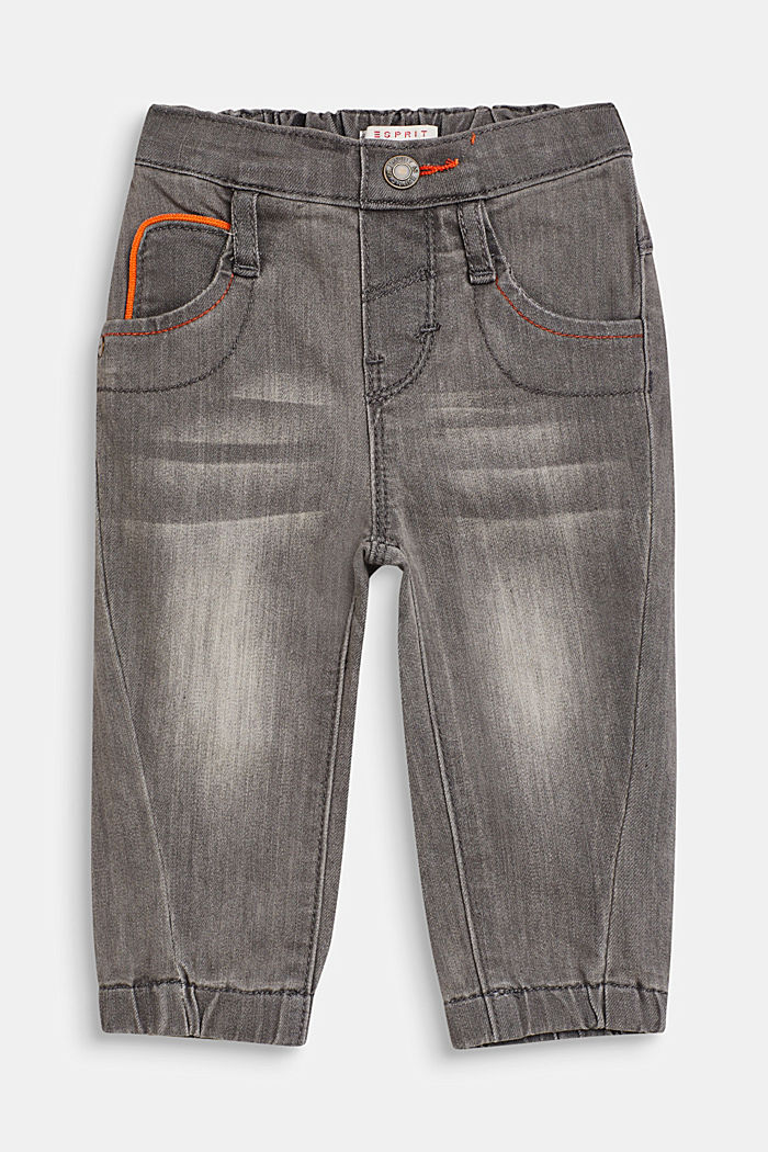 Stretch jeans with decorative seams, LCLIGHT GREY DEN, detail image number 0