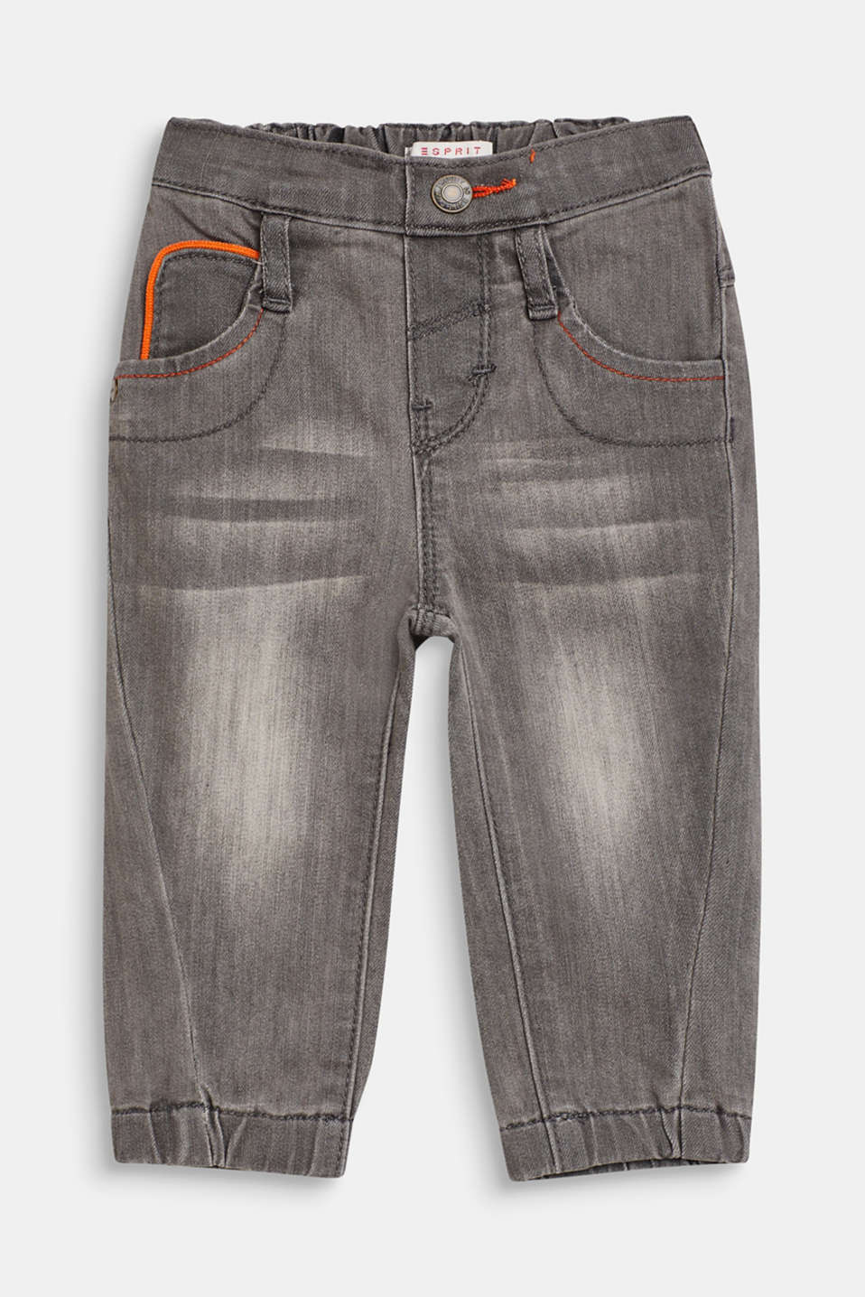 Esprit - Stretch jeans with decorative seams