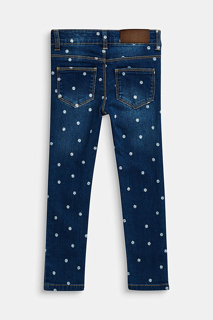 Stretch-Jeans mit Verstellbund, DARK INDIGO DE, detail image number 1