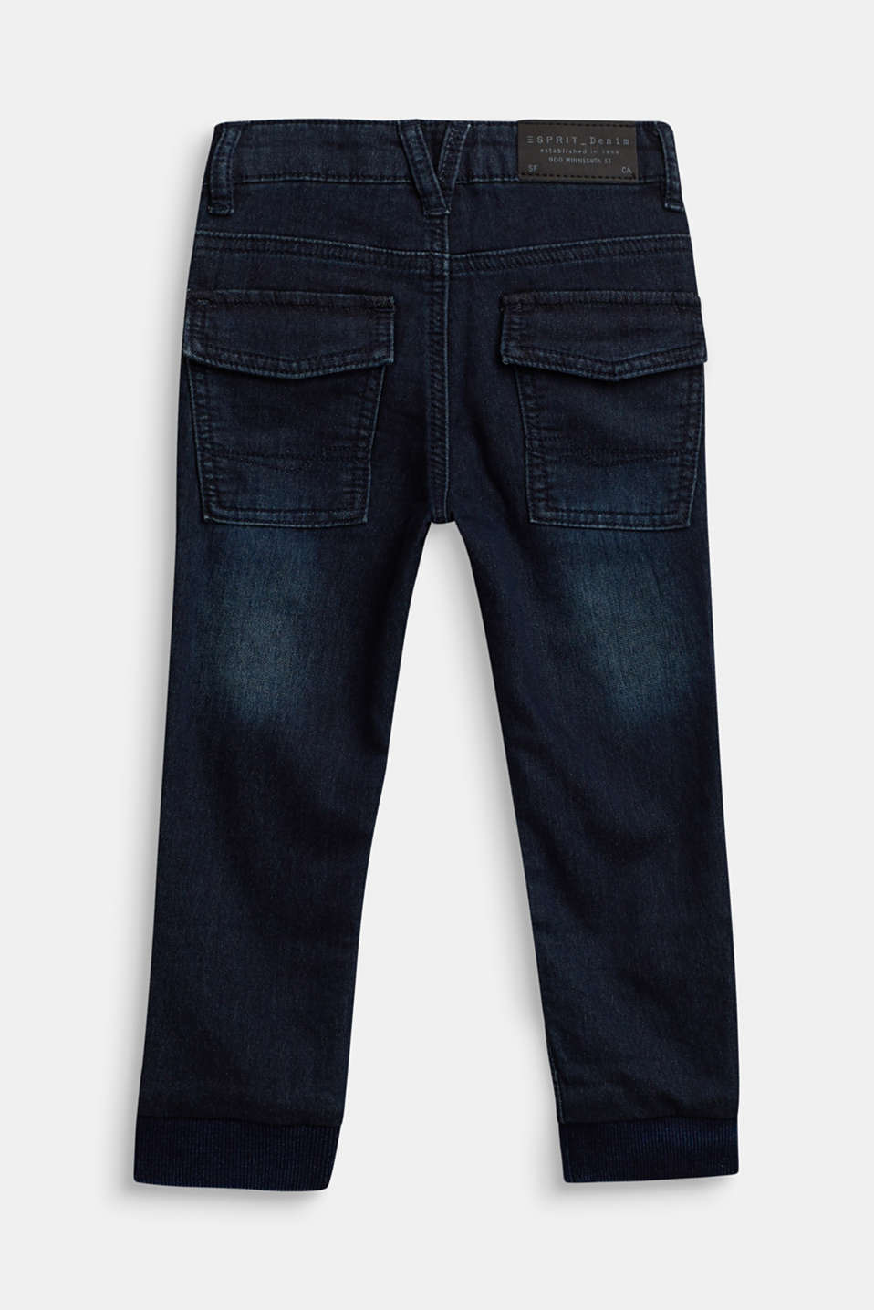 Stretch jeans with an adjustable waist, DARK INDIGO DE, detail image number 1