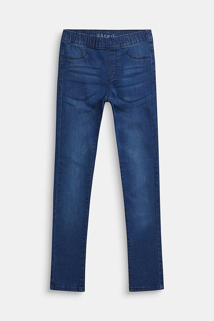Jeggings med washed-effekter