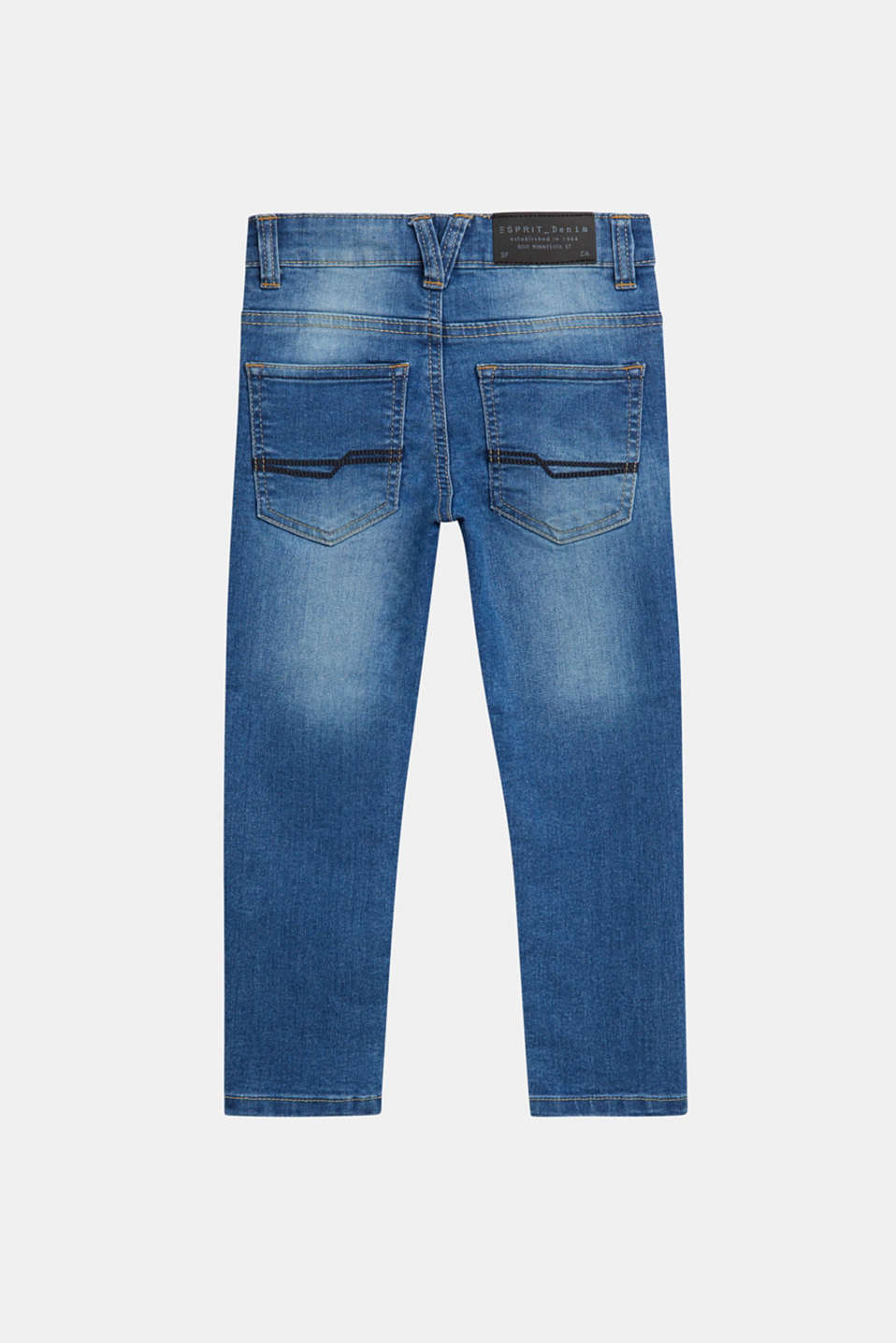 Stretch jeans with an adjustable waist, MEDIUM WASH DE, detail image number 1