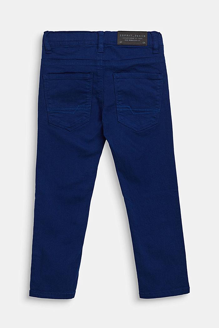 Vaqueros elásticos de color con cintura ajustable, indigo, detail image number 1