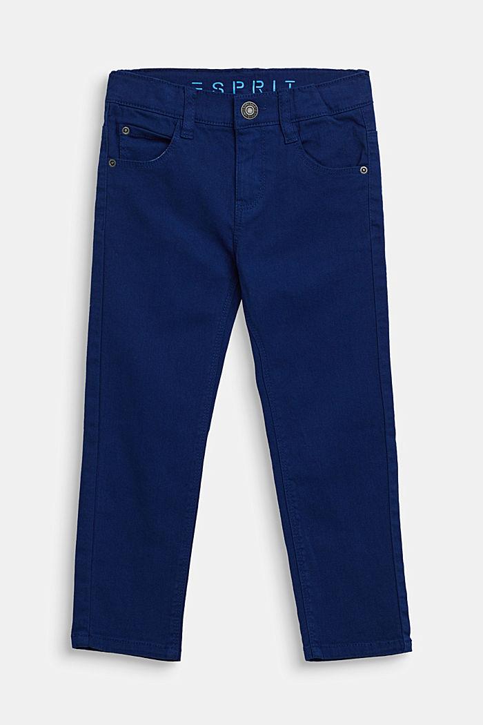 Vaqueros elásticos de color con cintura ajustable, indigo, detail image number 0