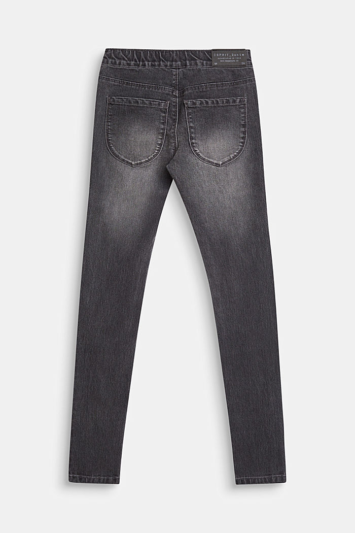 Jeggings with an elasticated waistband, LCGREY DENIM, detail image number 1