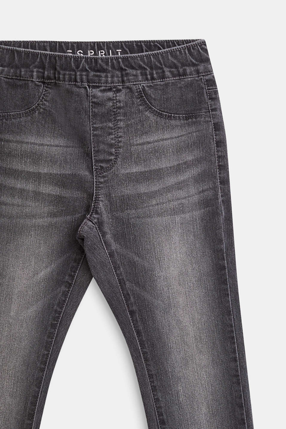 Jeggings with an elasticated waistband, LCGREY DENIM, detail image number 2