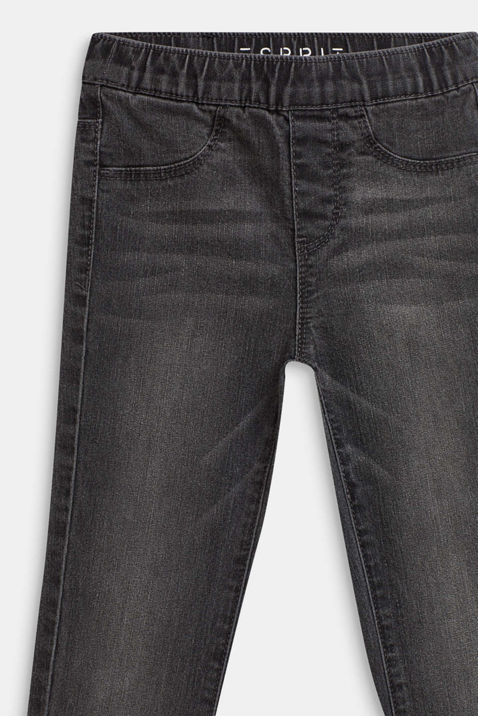 Worn-wash jeggings, GREY DENIM, detail image number 2