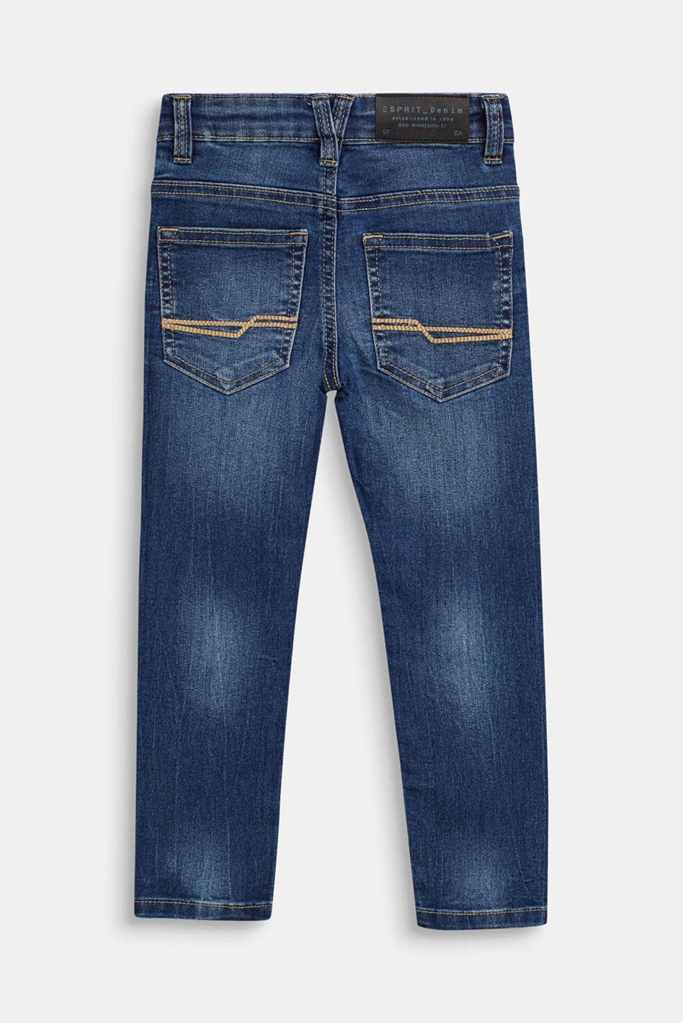 Vintage-look stretch jeans, MEDIUM WASH DE, detail image number 1