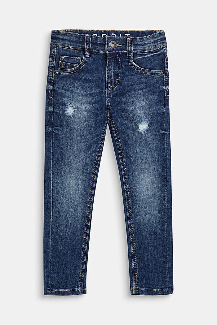 Stretch-Jeans im Used-Look, MEDIUM WASH DE, detail image number 0