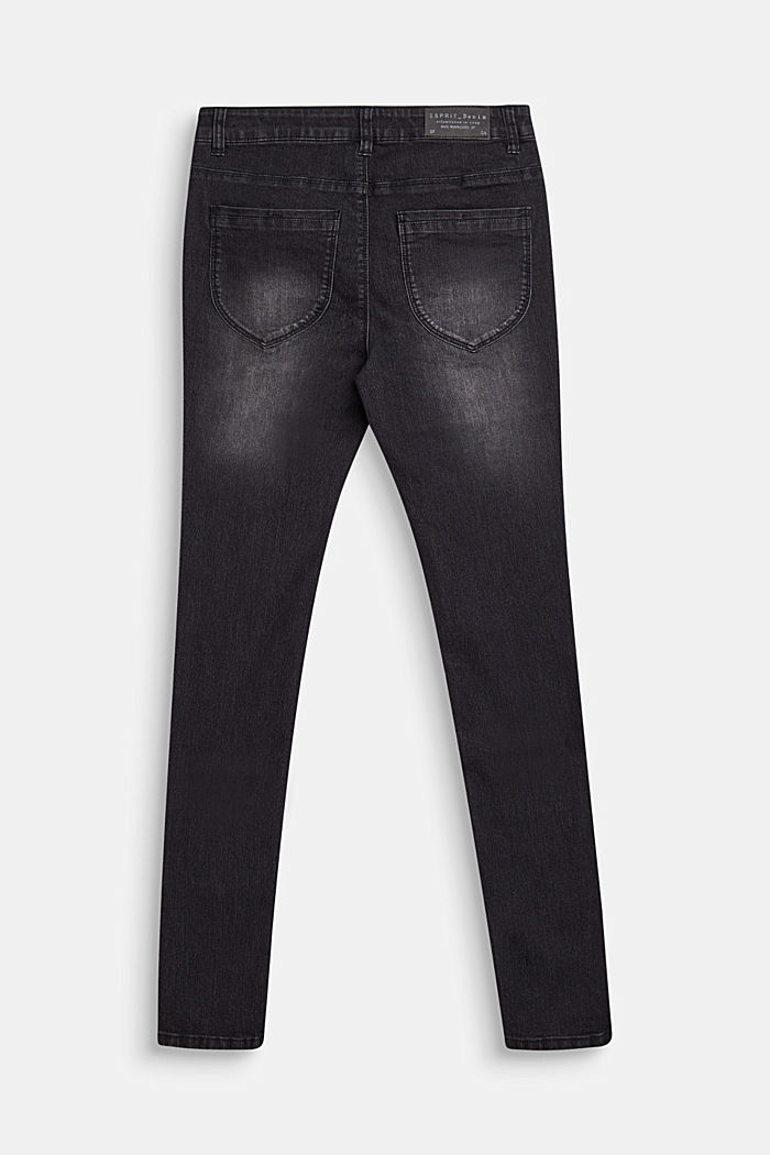 Black stretch jeans with an adjustable waistband, LCBLACK, detail image number 1