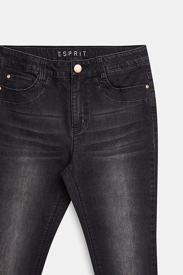 Black stretch jeans with an adjustable waistband, LCBLACK, detail image number 2